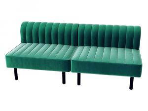 Endless Square Low Back Loveseat -- Trade Show Furniture Rental