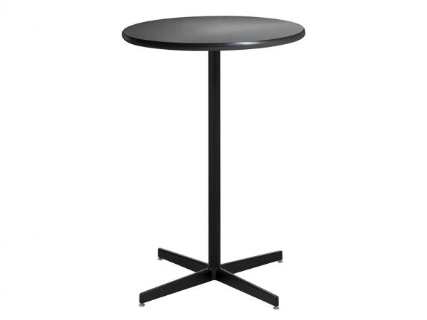 "30"" Round Bar Table w/ Brushed Gunmetal Top and Standard Black Base (CEBT-024)