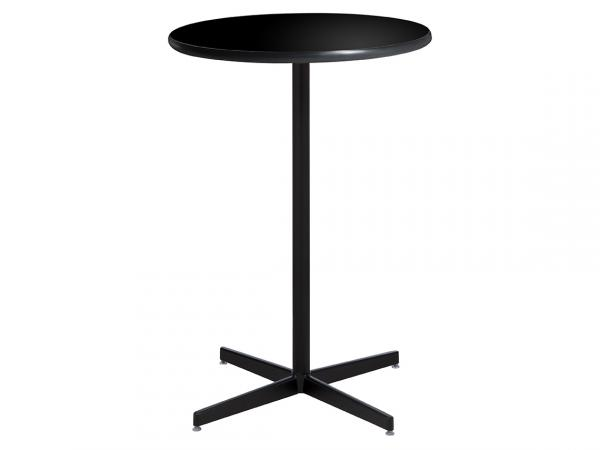 "30"" Round Bar Table w/ Black Top and Standard Black Base (CEBT-028)