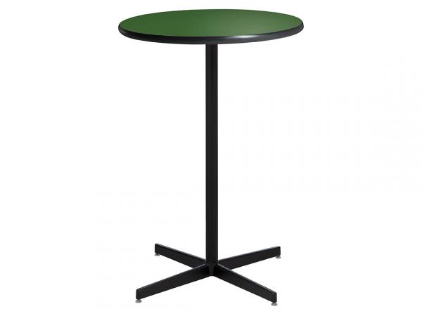 "30"" Round Bar Table w/ Green Top and Standard Black Base (CEBT-029)