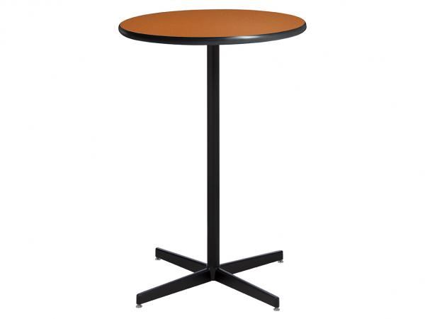 "30"" Round Bar Table w/ Orange Top and Standard Black Base (CEBT-031)