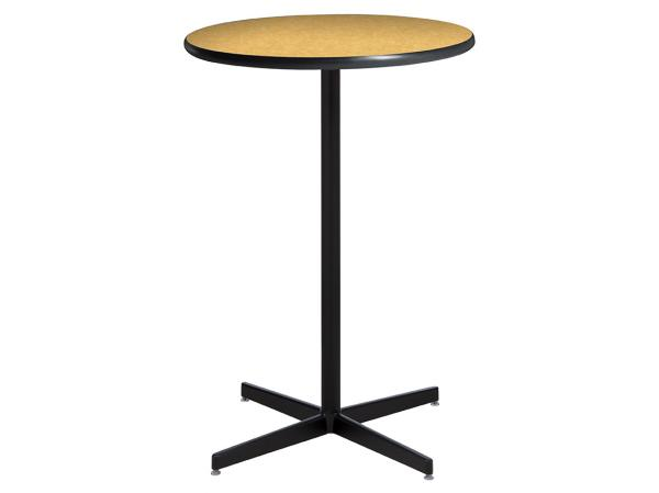 "30"" Round Bar Table w/ Brushed Yellow Top and Standard Black Base (CEBT-033)