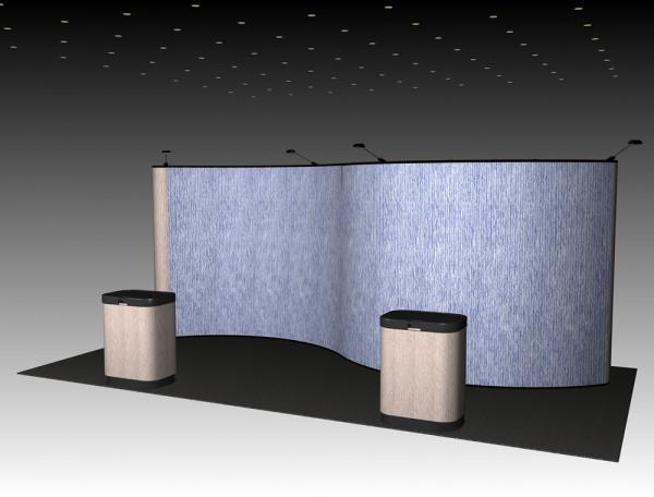 QD-233 Trade Show Pop Up Display