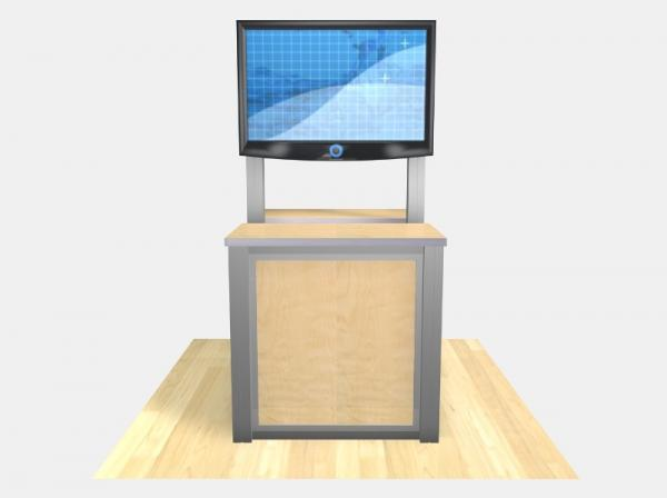 RE-1233 / Double-Sided Rectangular Counter Kiosk - Image 4