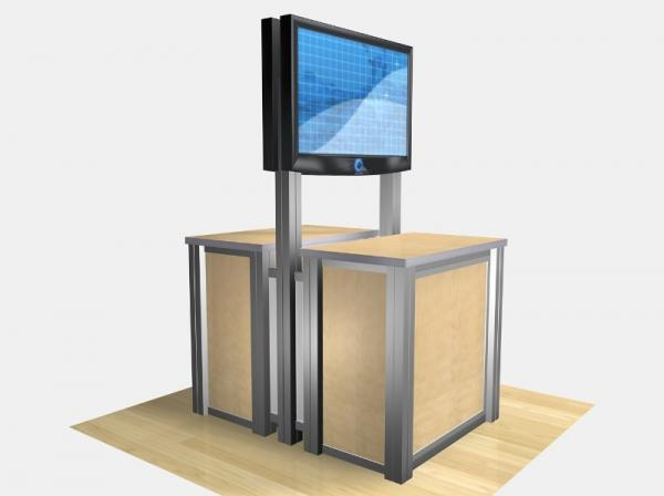 RE-1233 / Double-Sided Rectangular Counter Kiosk - Image 5